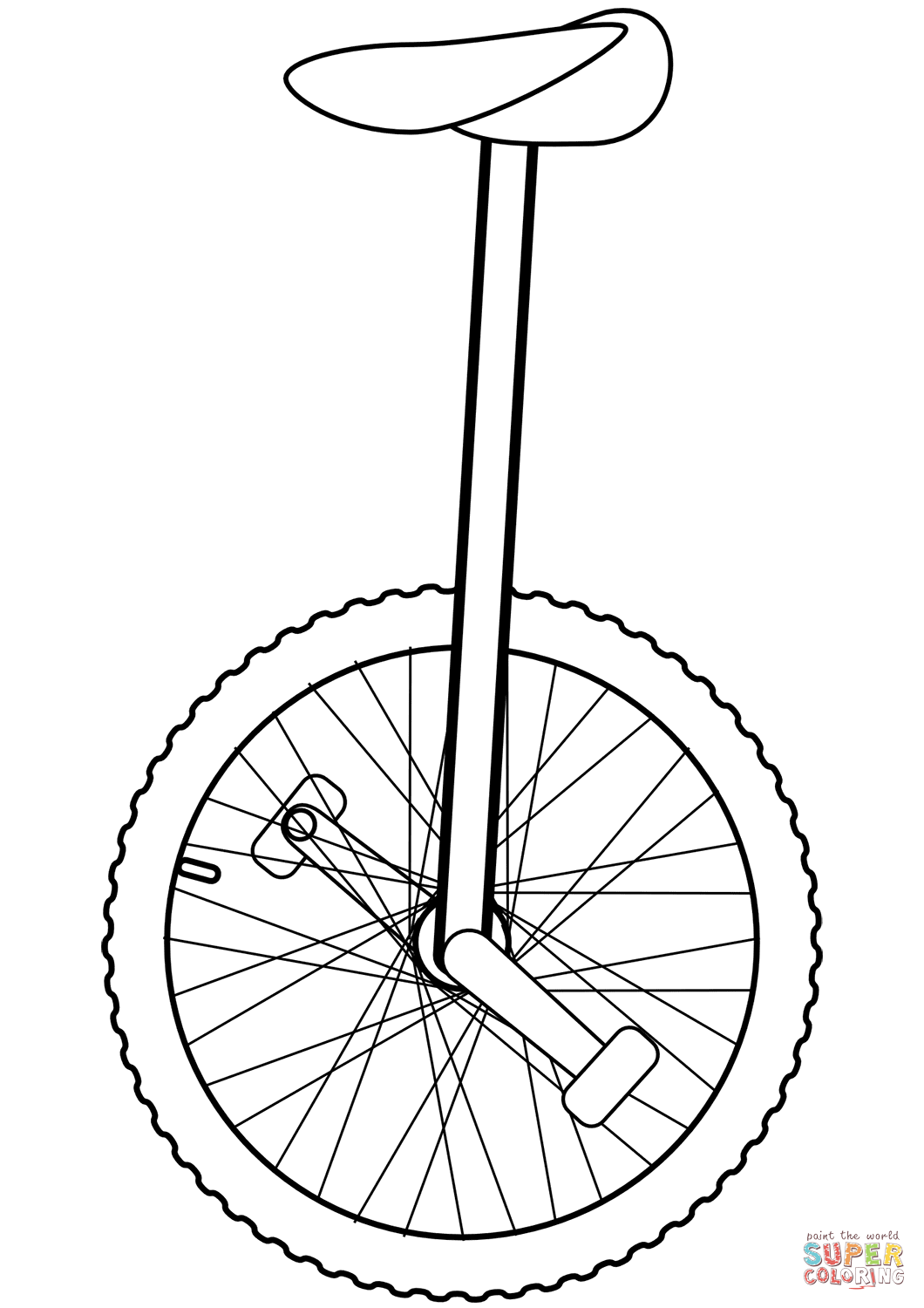 Unicycle Coloring Page