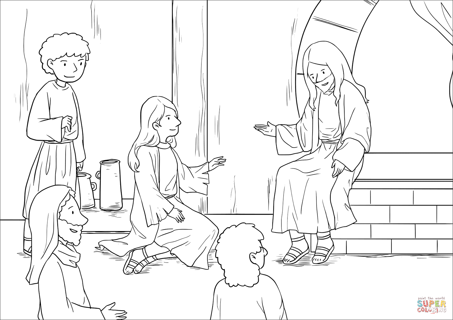 Jesus At The Home Of Martha And Mary Luke 10 38 42