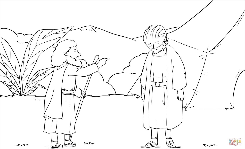 Samuel Rebukes Saul 1 Samuel 13 6 14 Coloring Page
