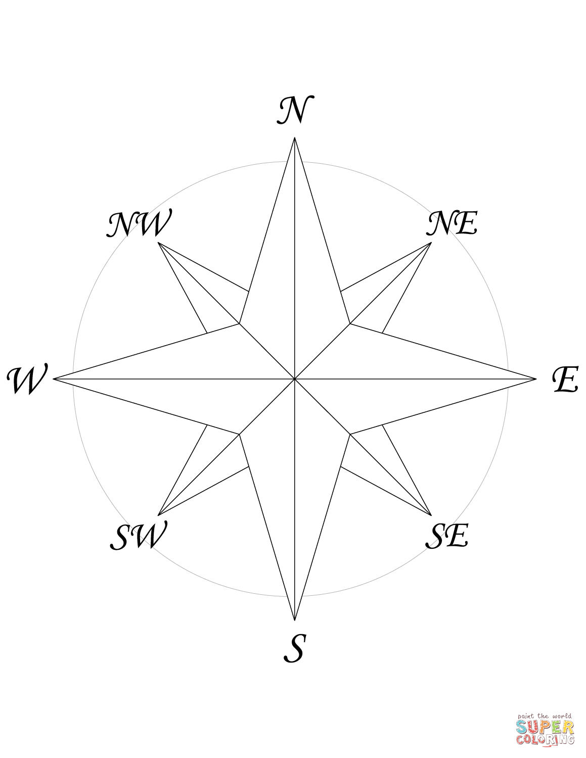 Printable Compass Rose That Are Rare