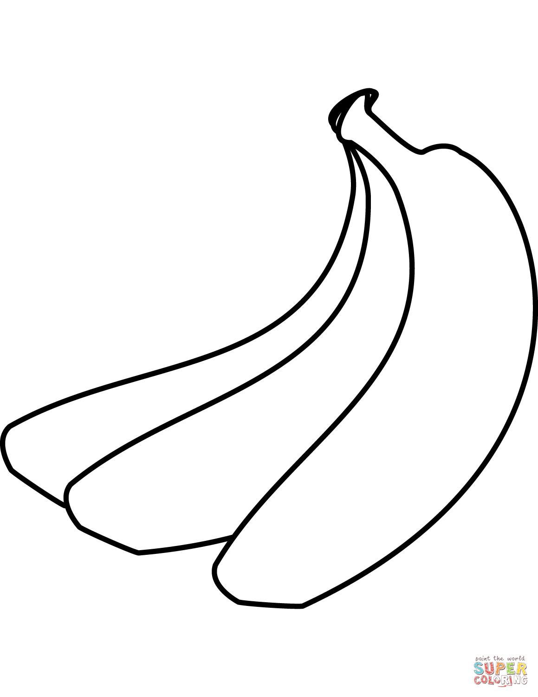 Bananas Coloring Page