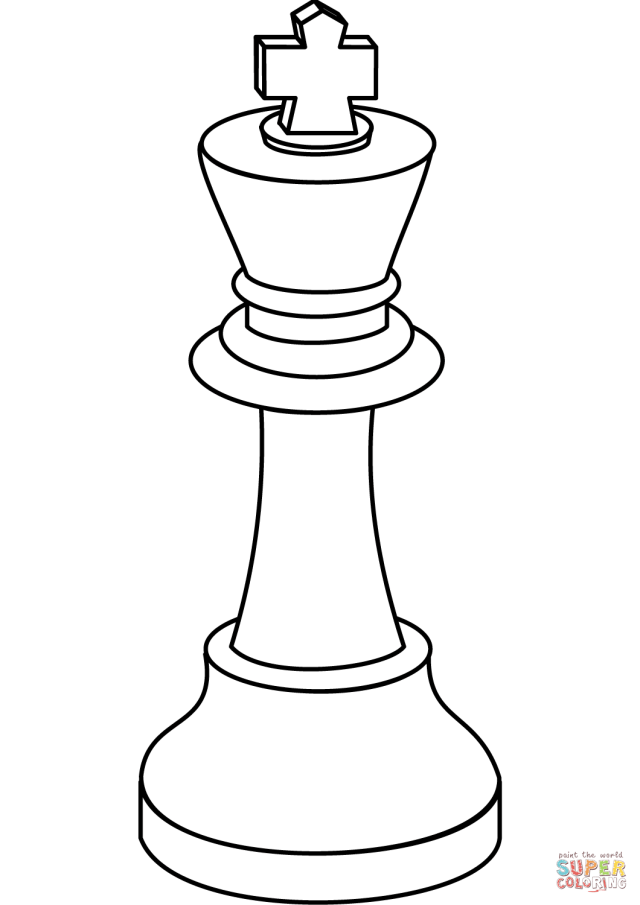 Chess King coloring page  Free Printable Coloring Pages
