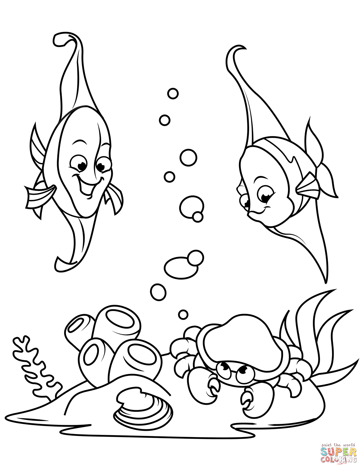 Horseshoe Crab Coloring Page Book