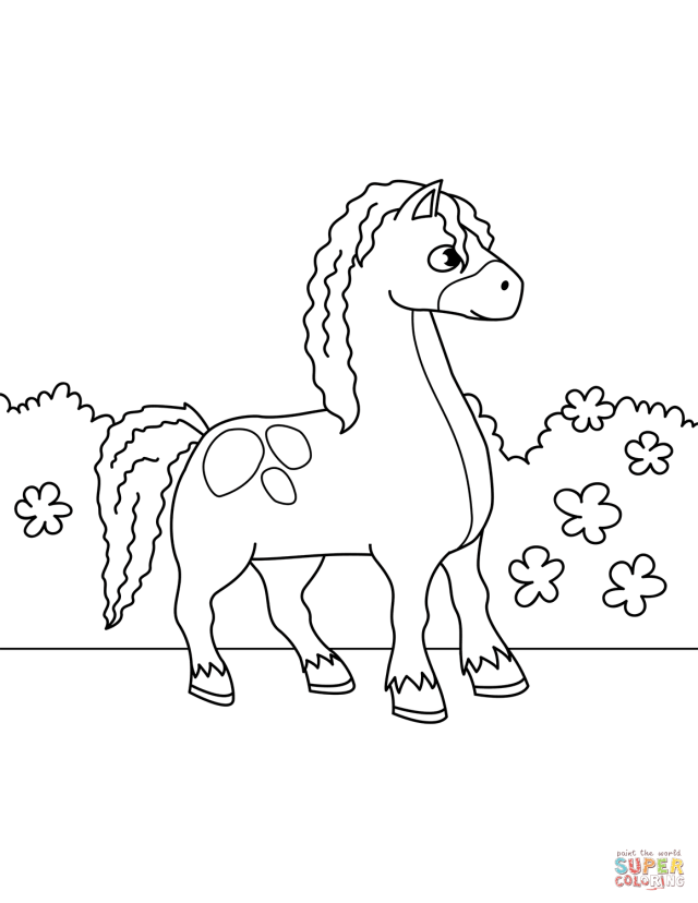 Cute Horse coloring page  Free Printable Coloring Pages