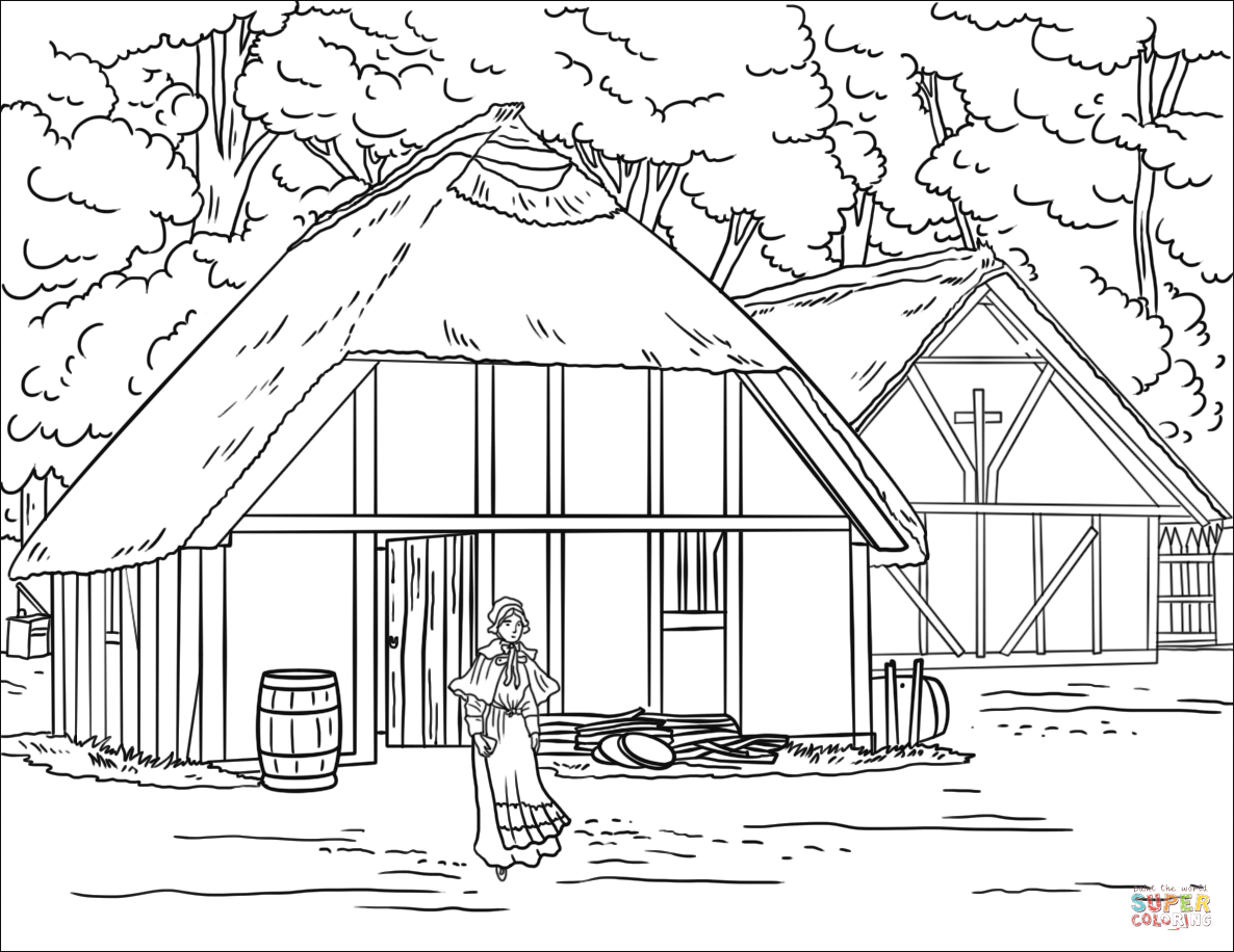 Jamestown Coloring Worksheets Coloring Pages