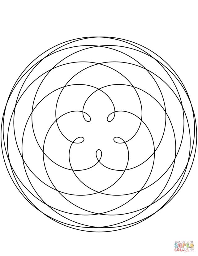 Pentagram of Venus Mandala coloring page  Free Printable Coloring