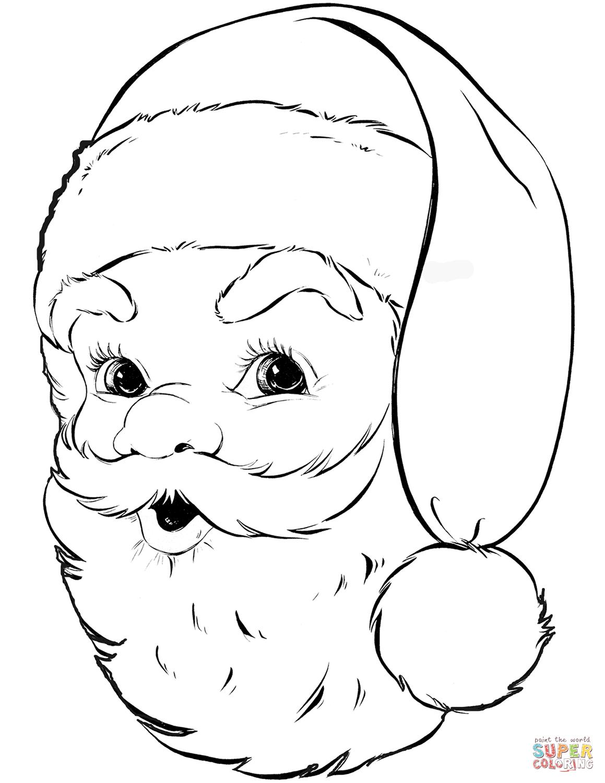 Santa Claus Portrait Coloring Page