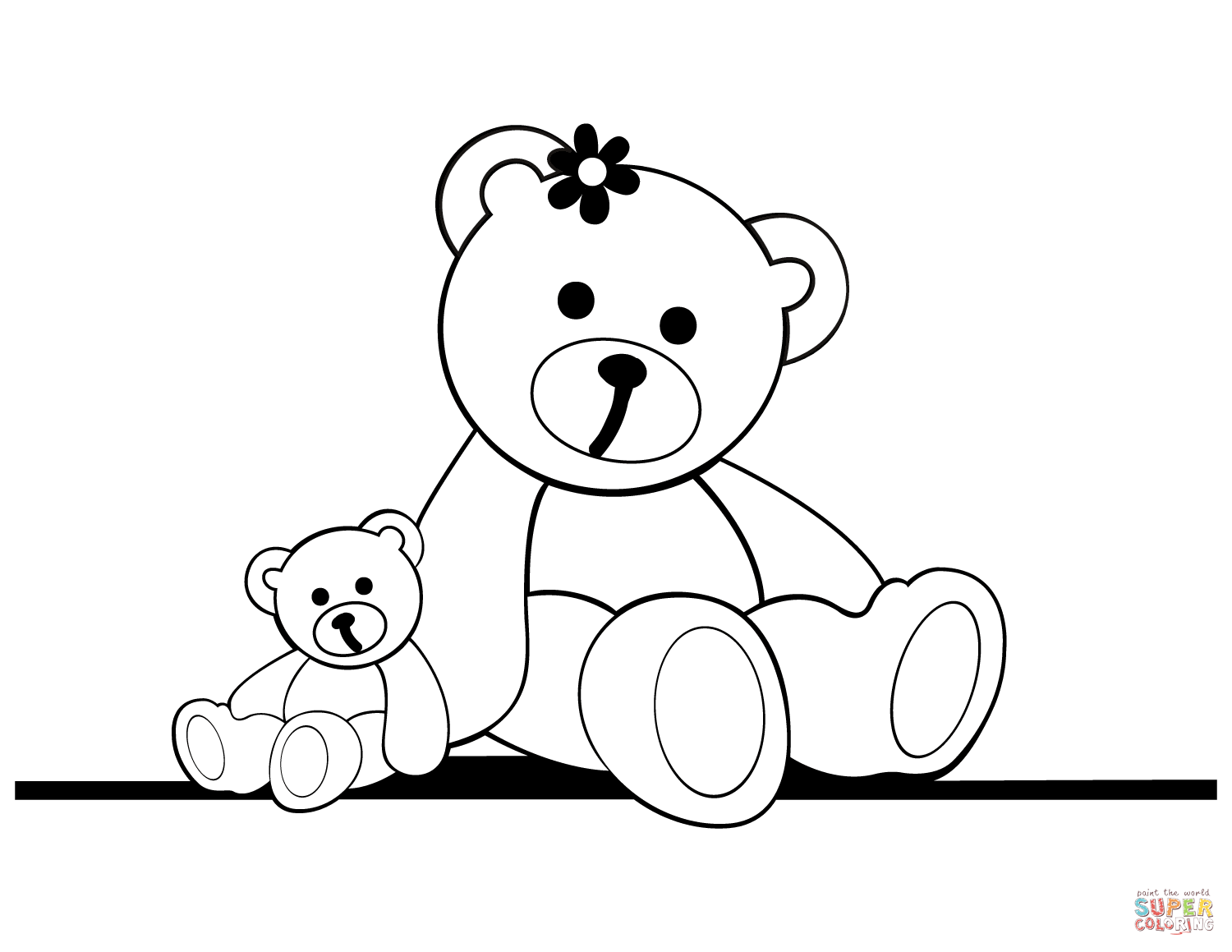Teddy Bears Coloring Pages