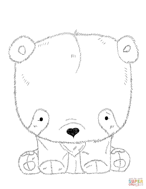 Toy Panda Bear Coloring Page
