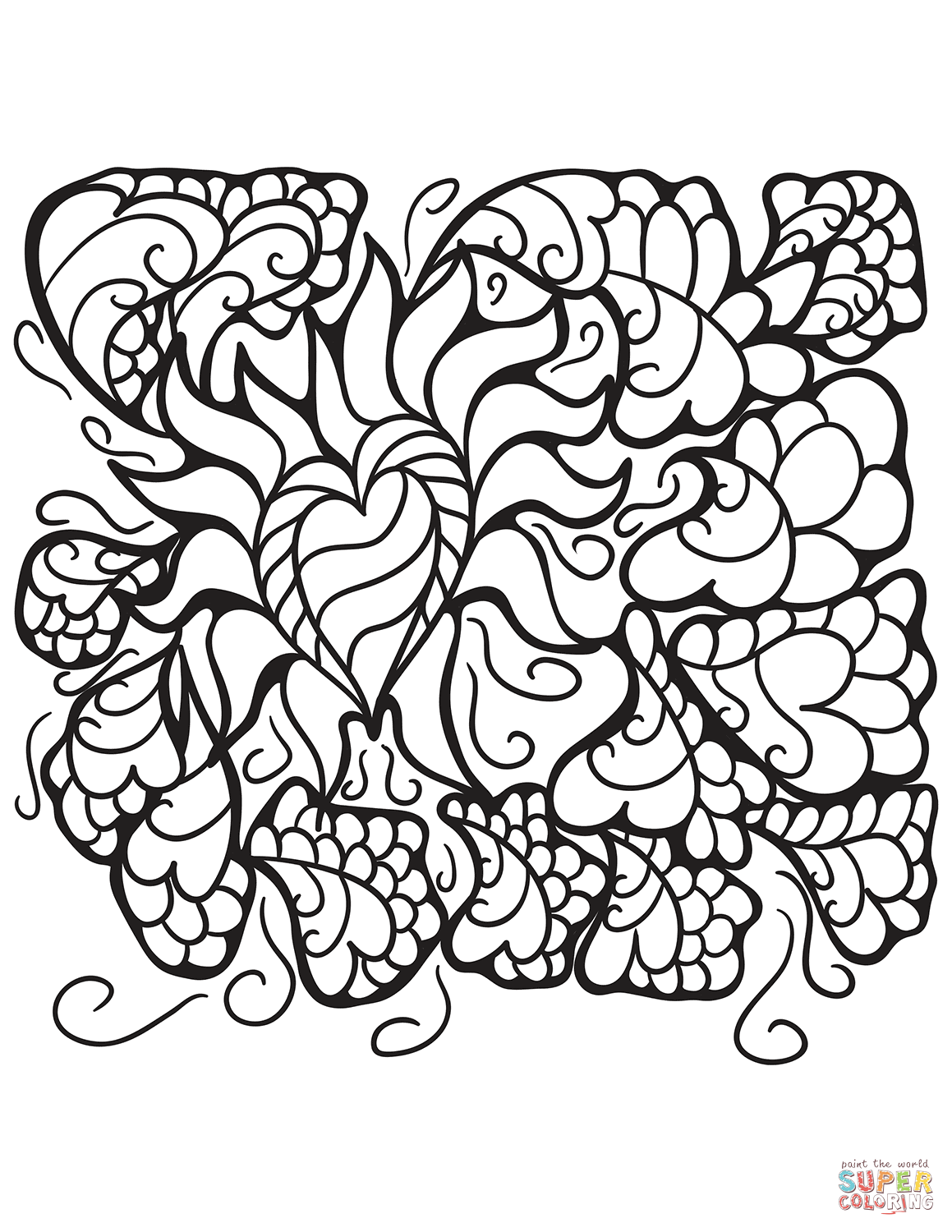 Abstract Design Coloring Pages Free Coloring Pages Download | Xsibe ...