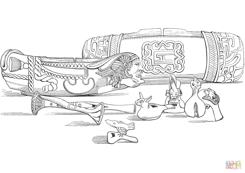 aztec musical instruments coloring page | free printable coloring pages