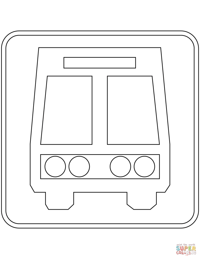 """""""bus stop"""" sign in mexico coloring page  free printable"""