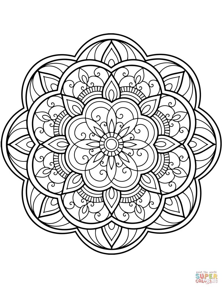 Flower Mandala coloring page | Free Printable Coloring Pages | flower mandala coloring pages