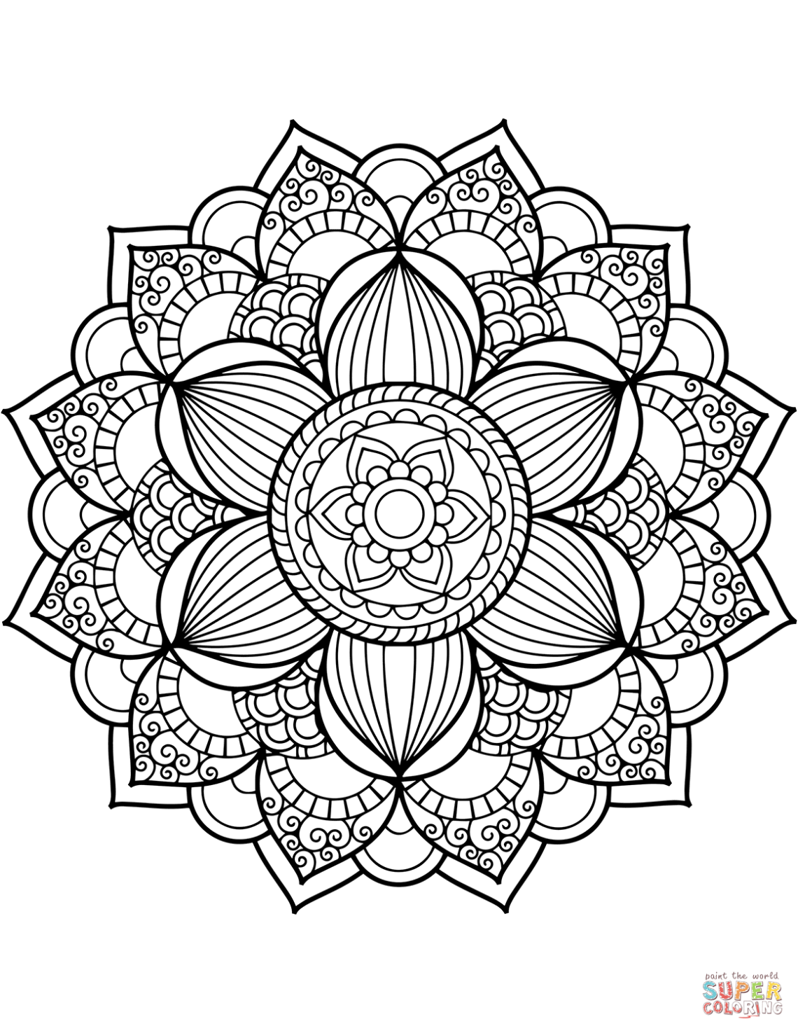 Flower Mandala coloring page | Free Printable Coloring Pages | free printable mandala coloring pages for adults easy
