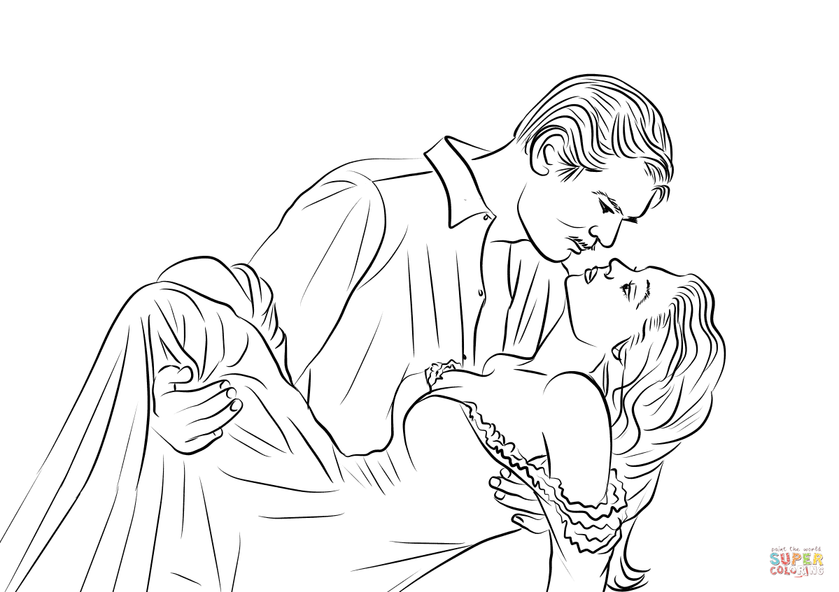 Gone With The Wind Coloring Page