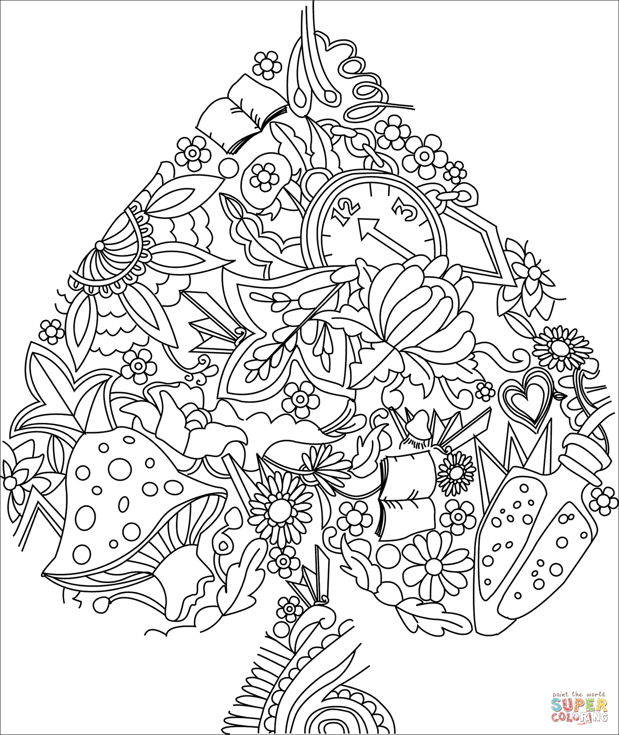 Card Suit Coloring Page