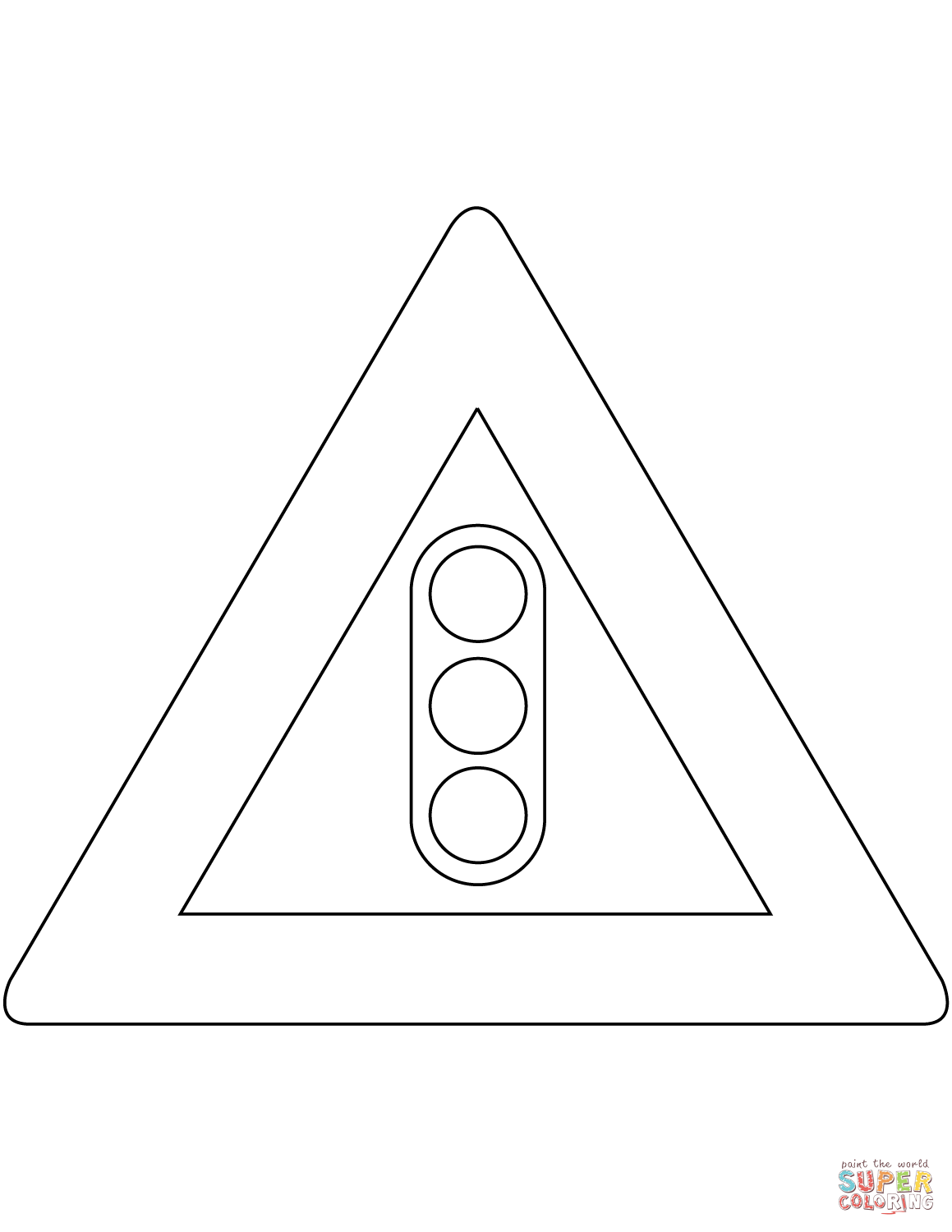 Traffic Lights Sign In The Netherlands Coloring Page