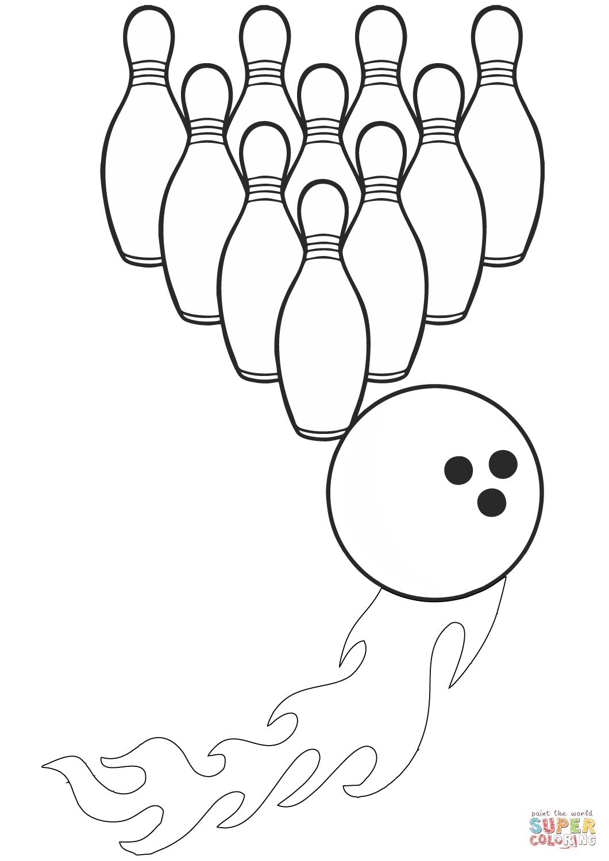 Bowling Strike Coloring Page