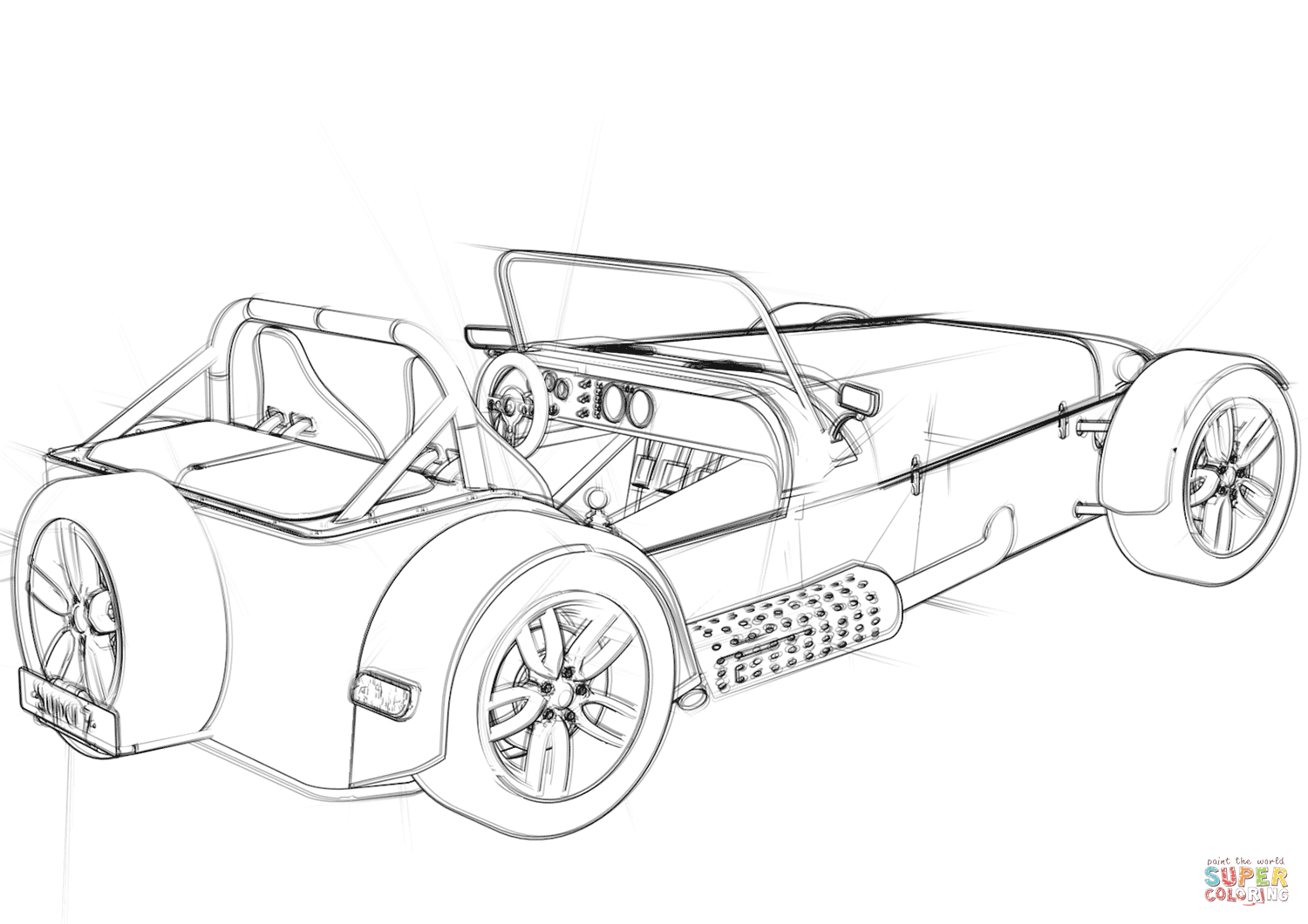 Convertible Coupe Concept Car Coloring Page