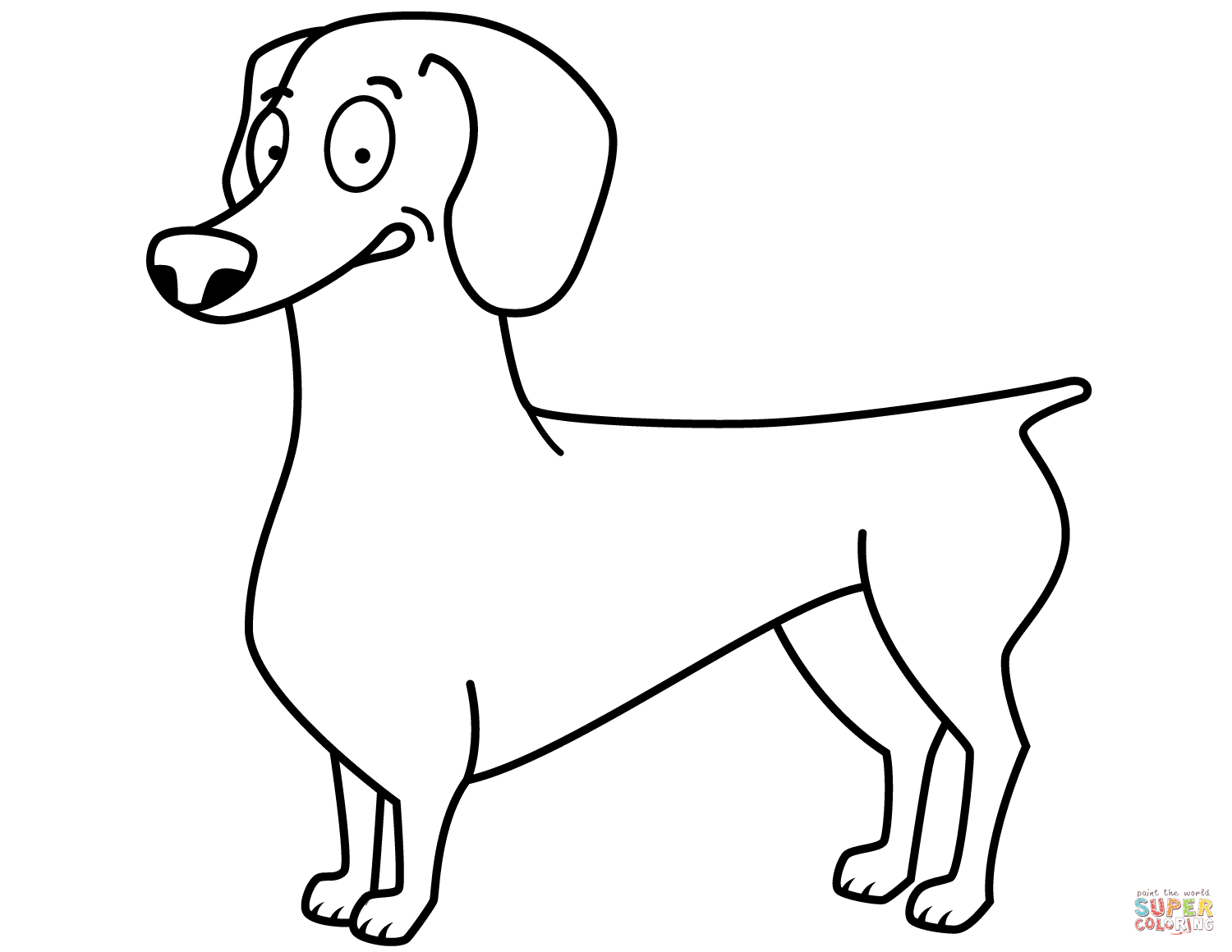 Funny Dachshund Coloring Page