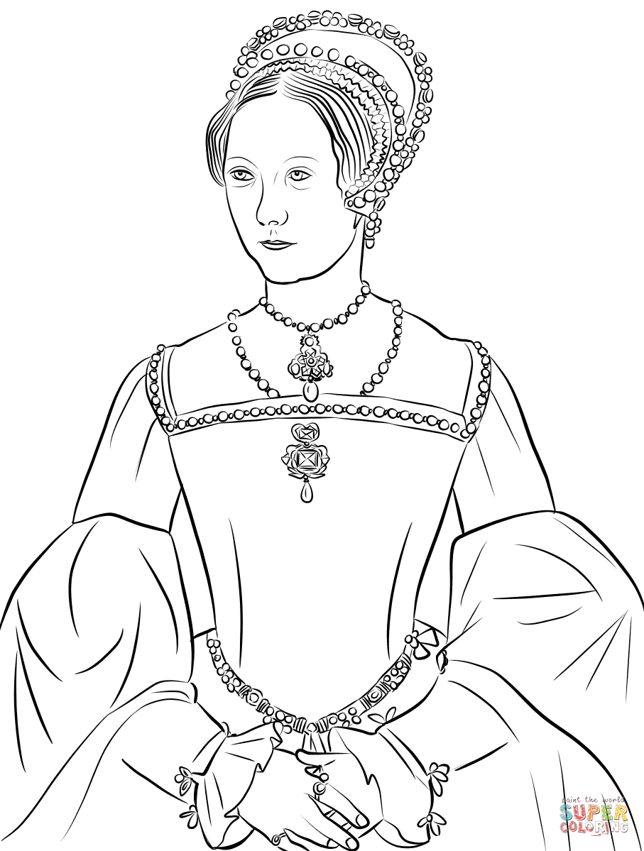 Mary I Tudor Coloring Page Free Printable Coloring Pages