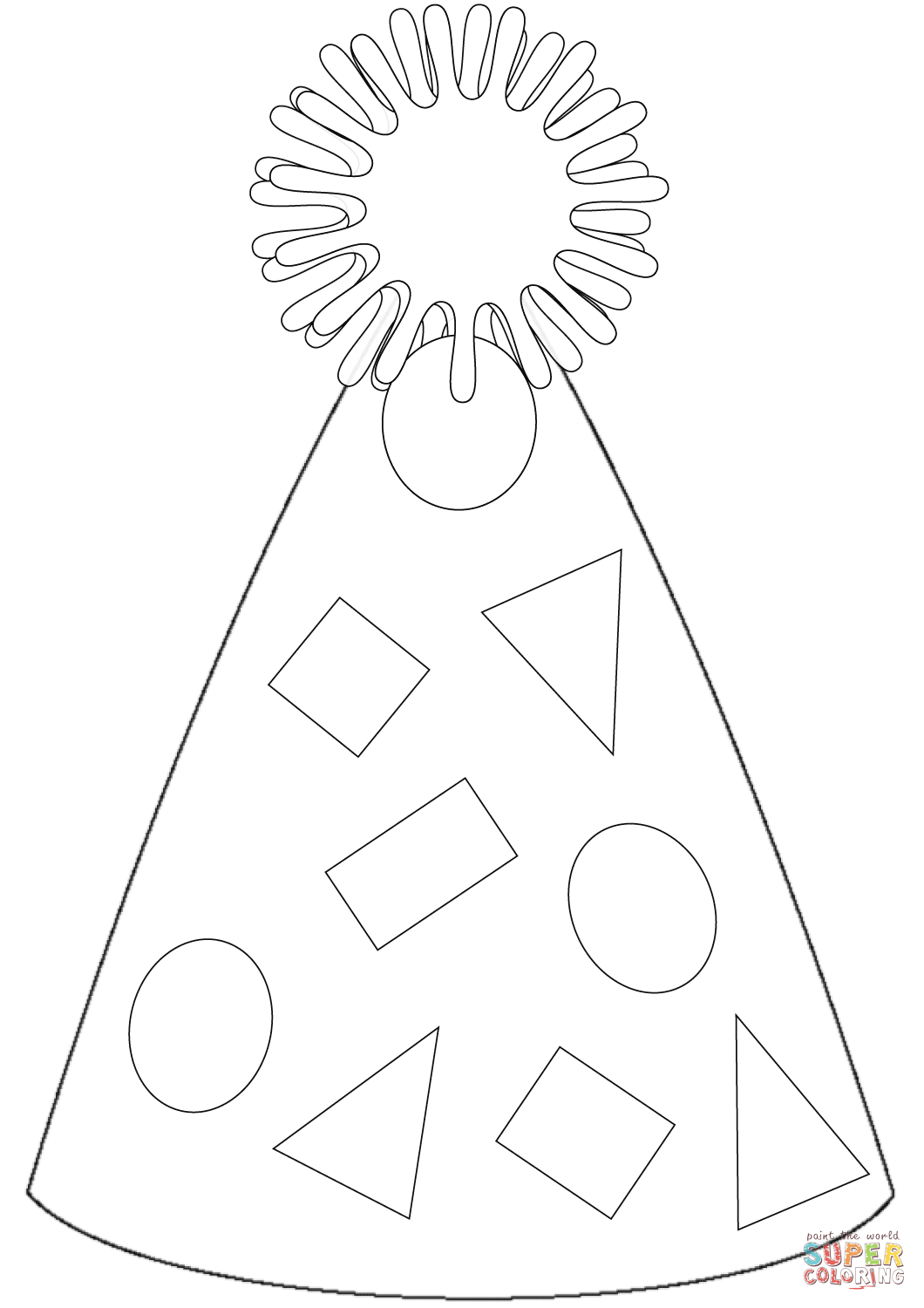 Party Hat Coloring Page Free Printable Coloring Pages