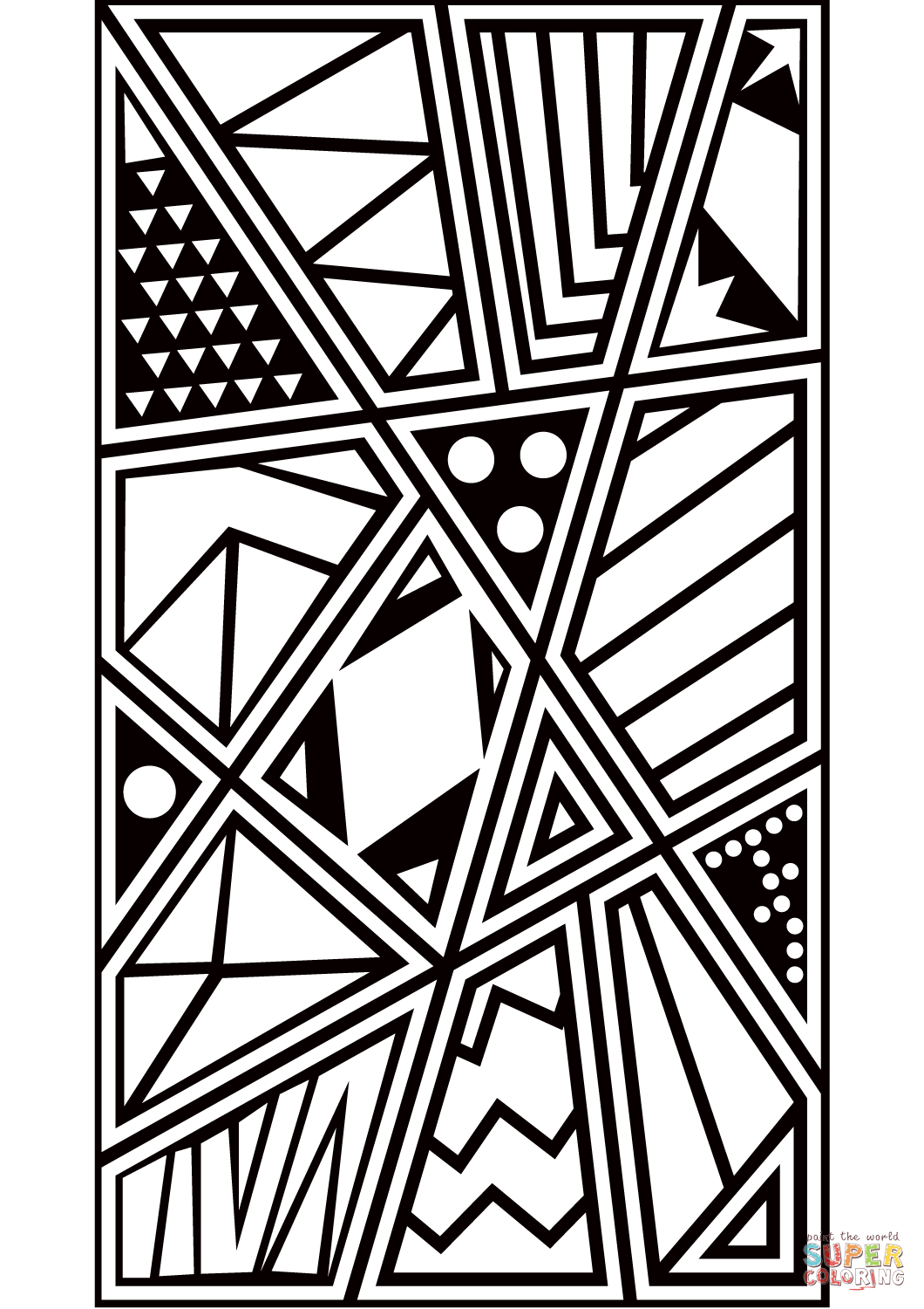 Pop Art Pattern Coloring Page