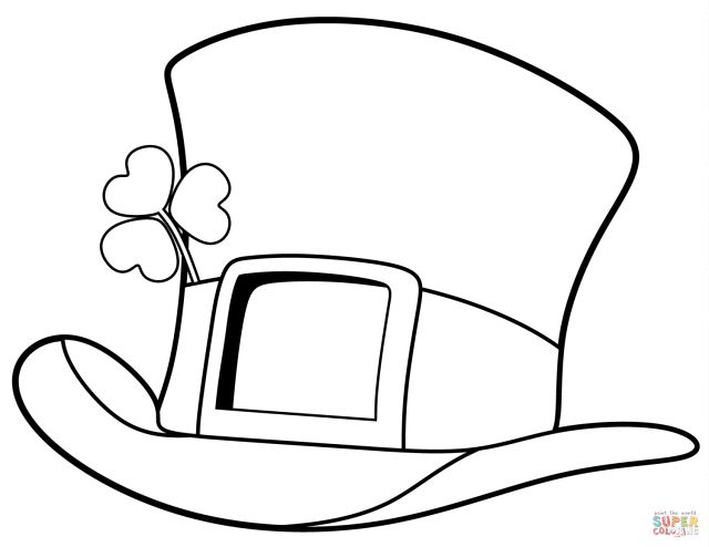 St. Patrick Day Top Hat coloring page  Free Printable Coloring Pages
