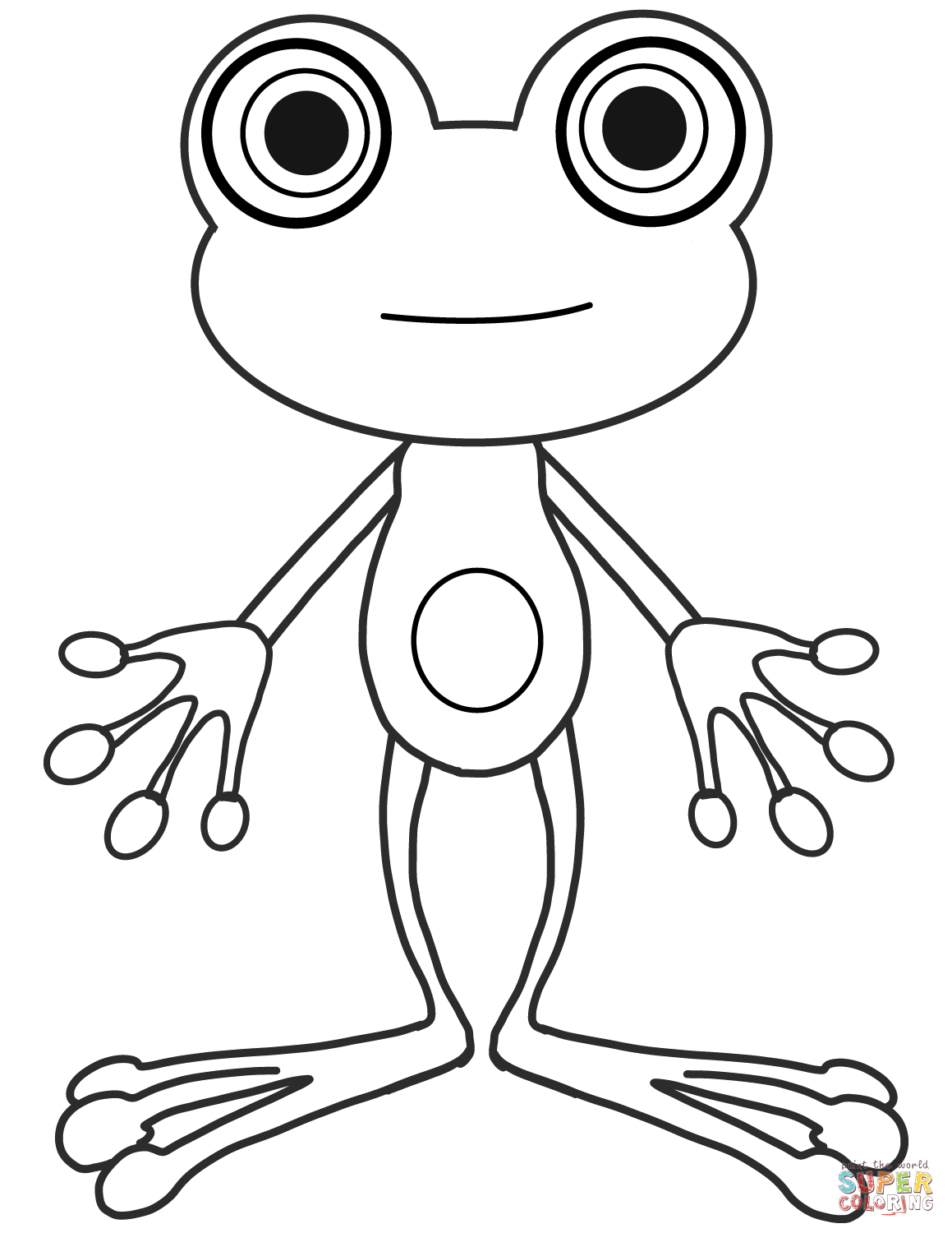 Color Worksheet Of A Tree Frog