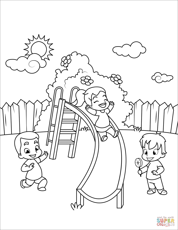 Outdoor Preschool Playground