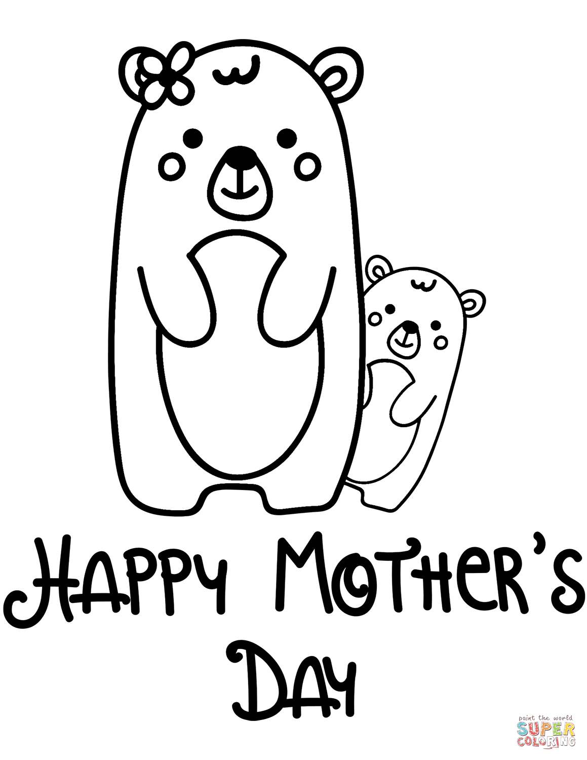 Happy Mother S Day Coloring Page