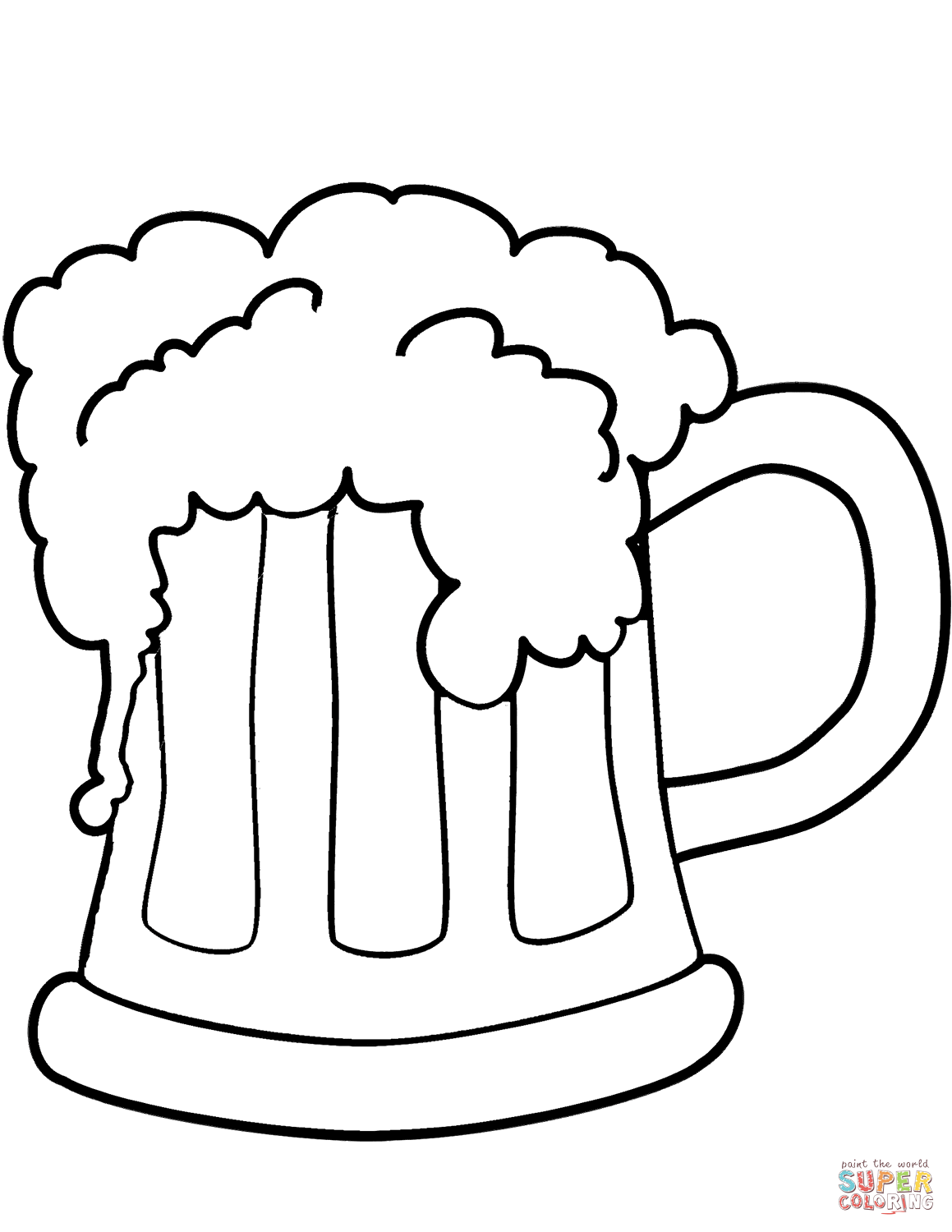 St Patrick S Day Beer Coloring Page