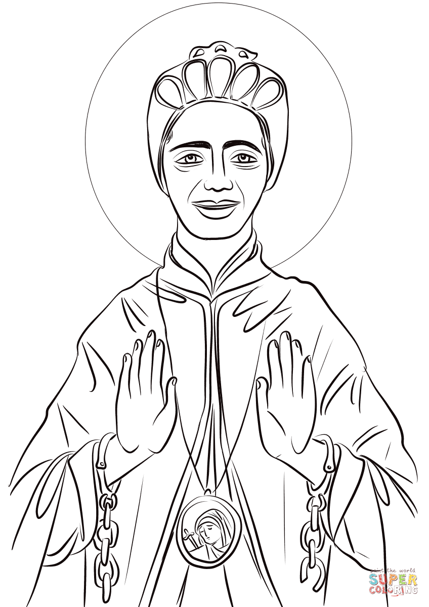 printable coloring pages of saint therese of lisieux