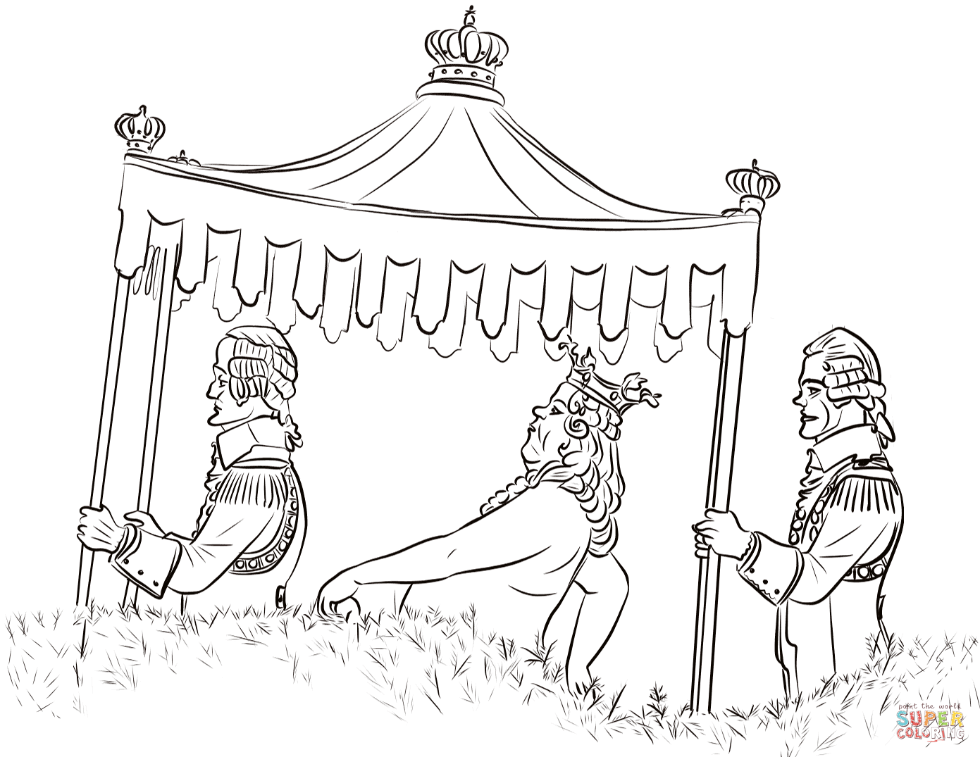 The Emperor S New Clothes Coloring Page