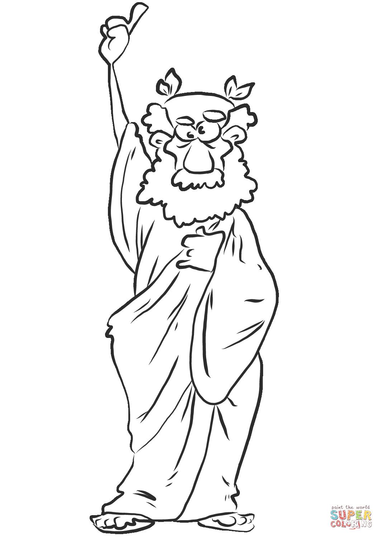 Cartoon Ancient Greek Man Coloring Page