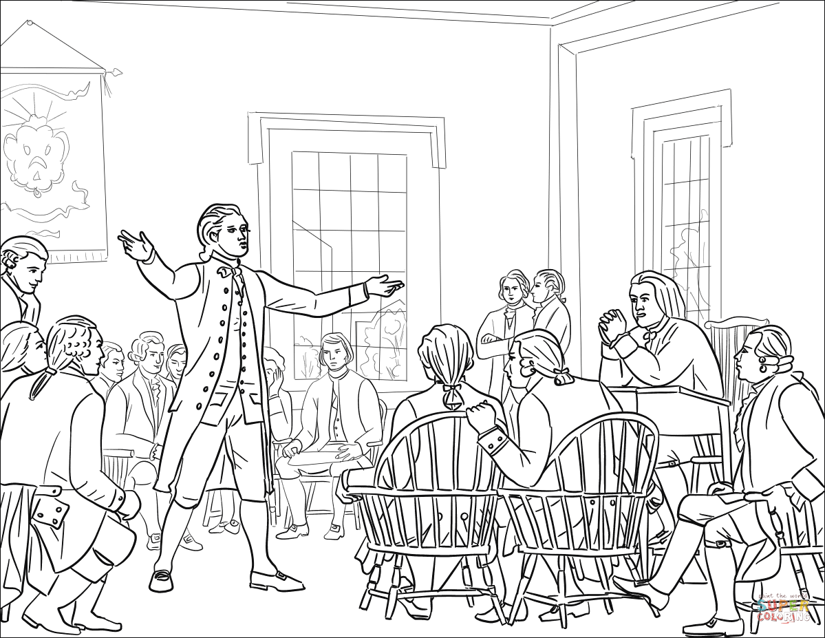 The First Continental Congress Coloring Page