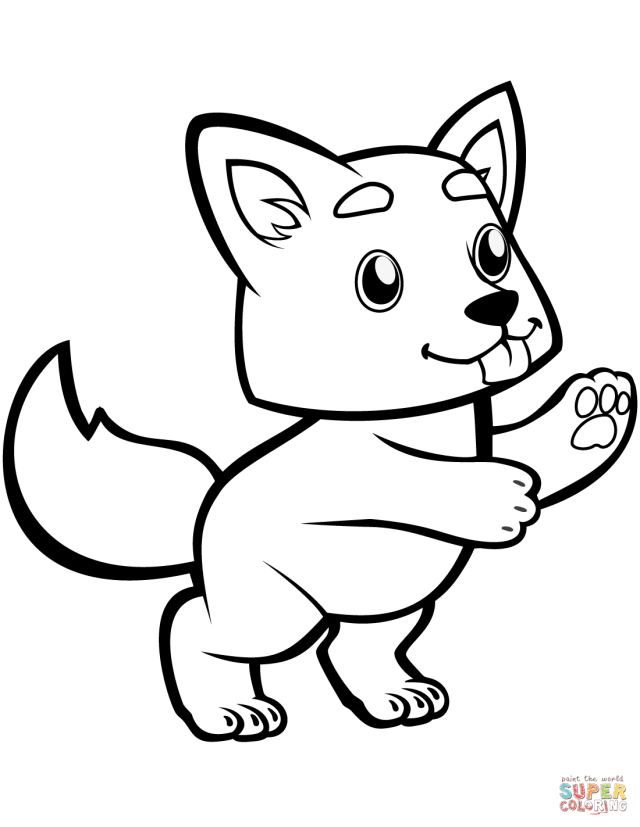 Cute Baby Wolf coloring page  Free Printable Coloring Pages