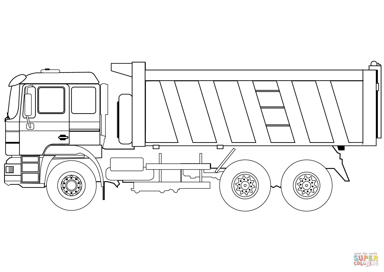 Ausmalbild Muldenkipper