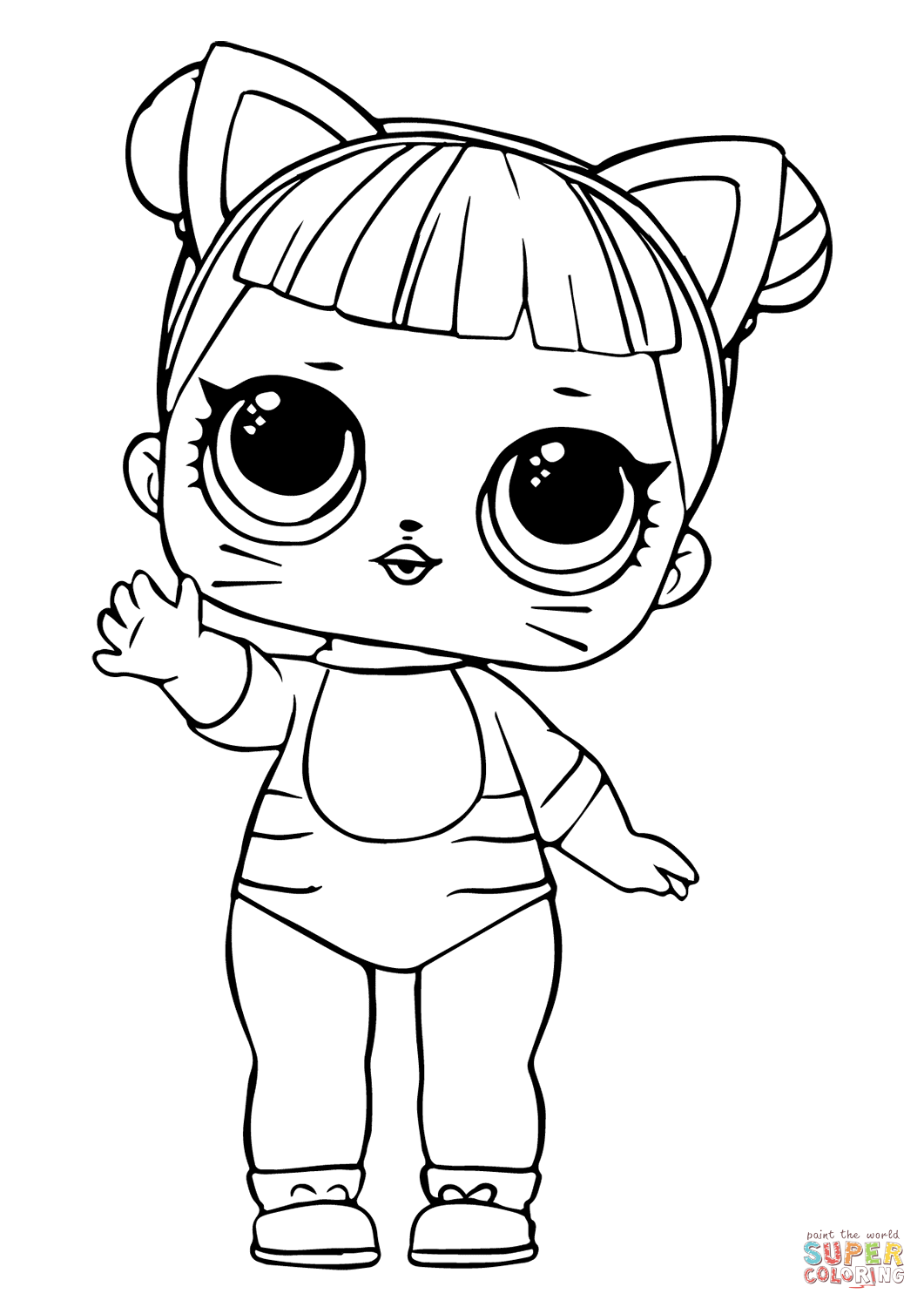 Lol Doll Baby Cat Coloring Page
