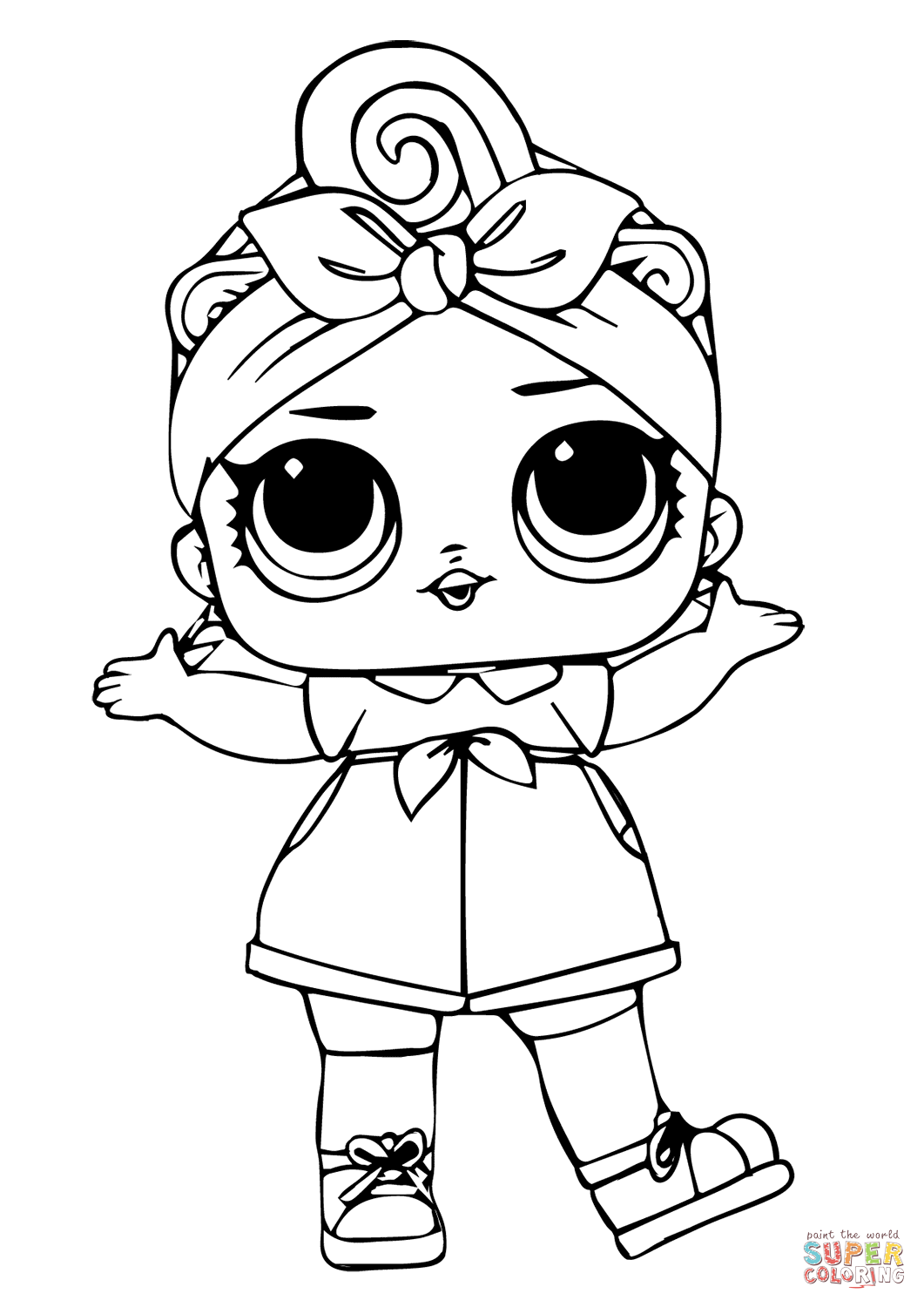 Can Do Baby Lol Surprise Doll Coloring Page
