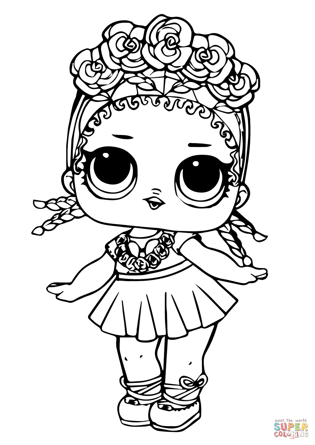 Lol Doll Coconut Q T Coloring Page