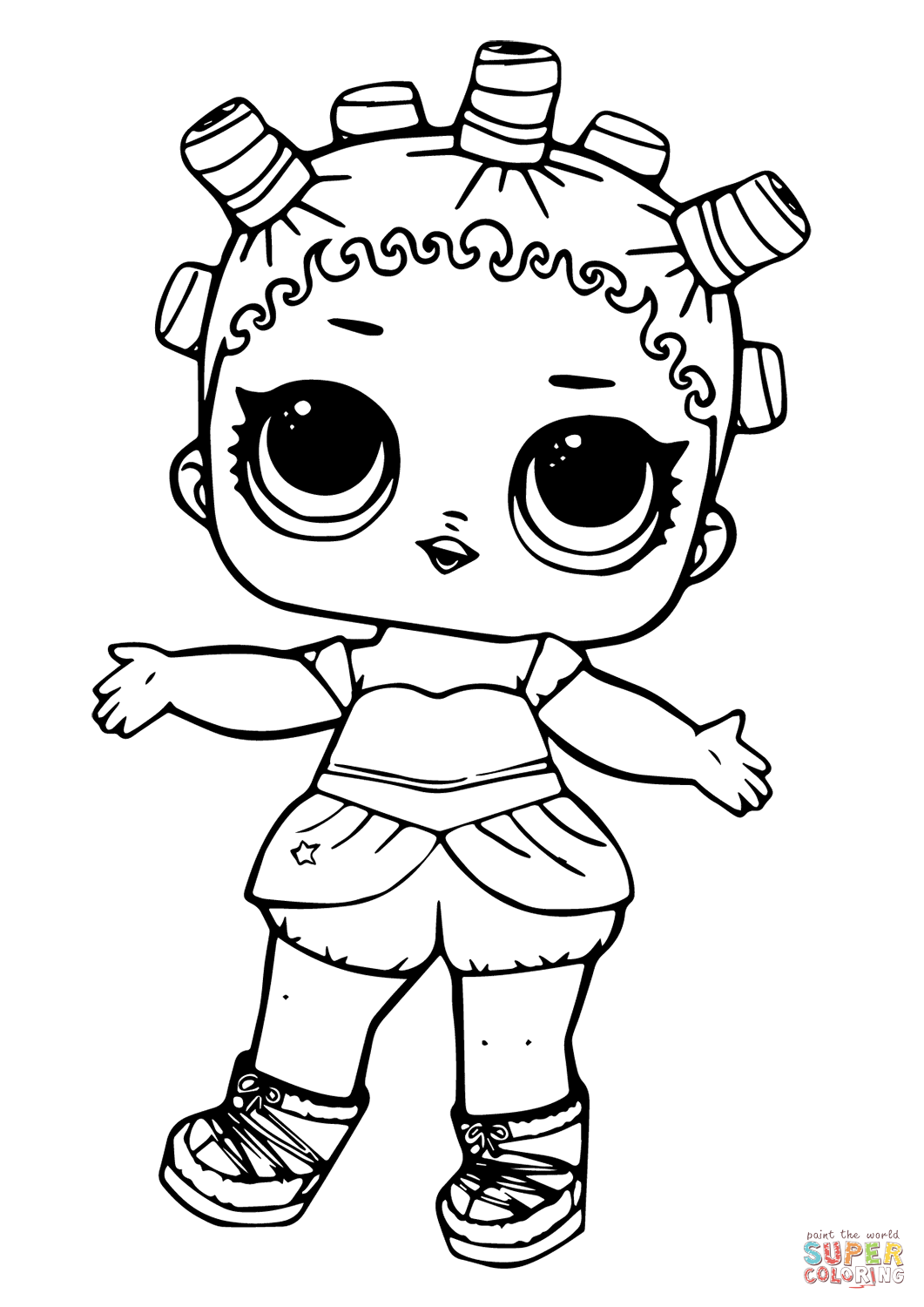 Lol Doll Cosmic Queen Coloring Page
