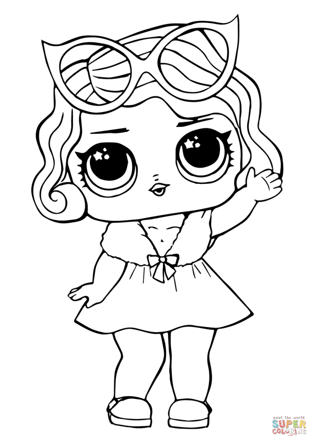 LOL Doll Leading Baby coloring page  Free Printable Coloring Pages