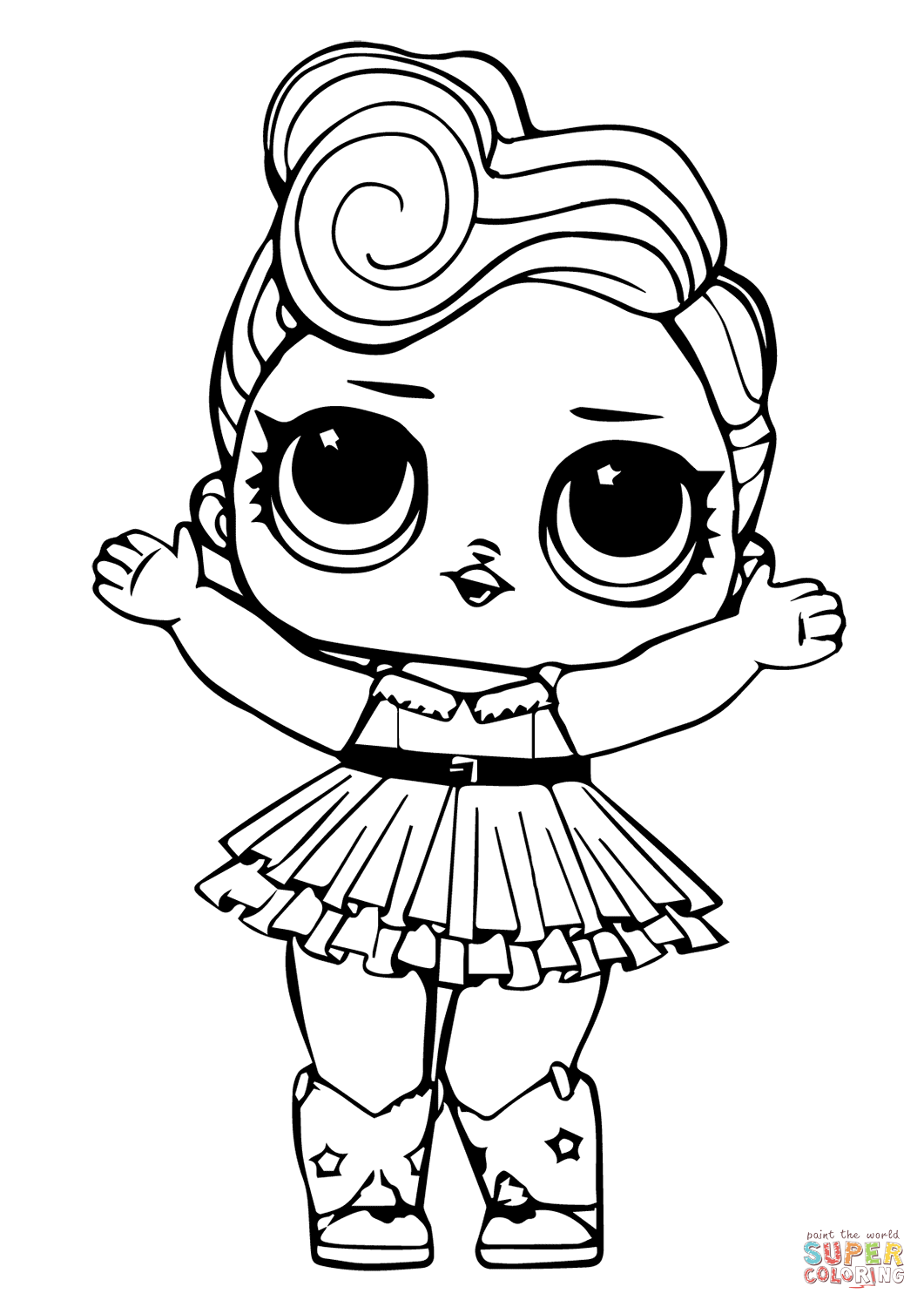 Lol Doll Luxe Coloring Page