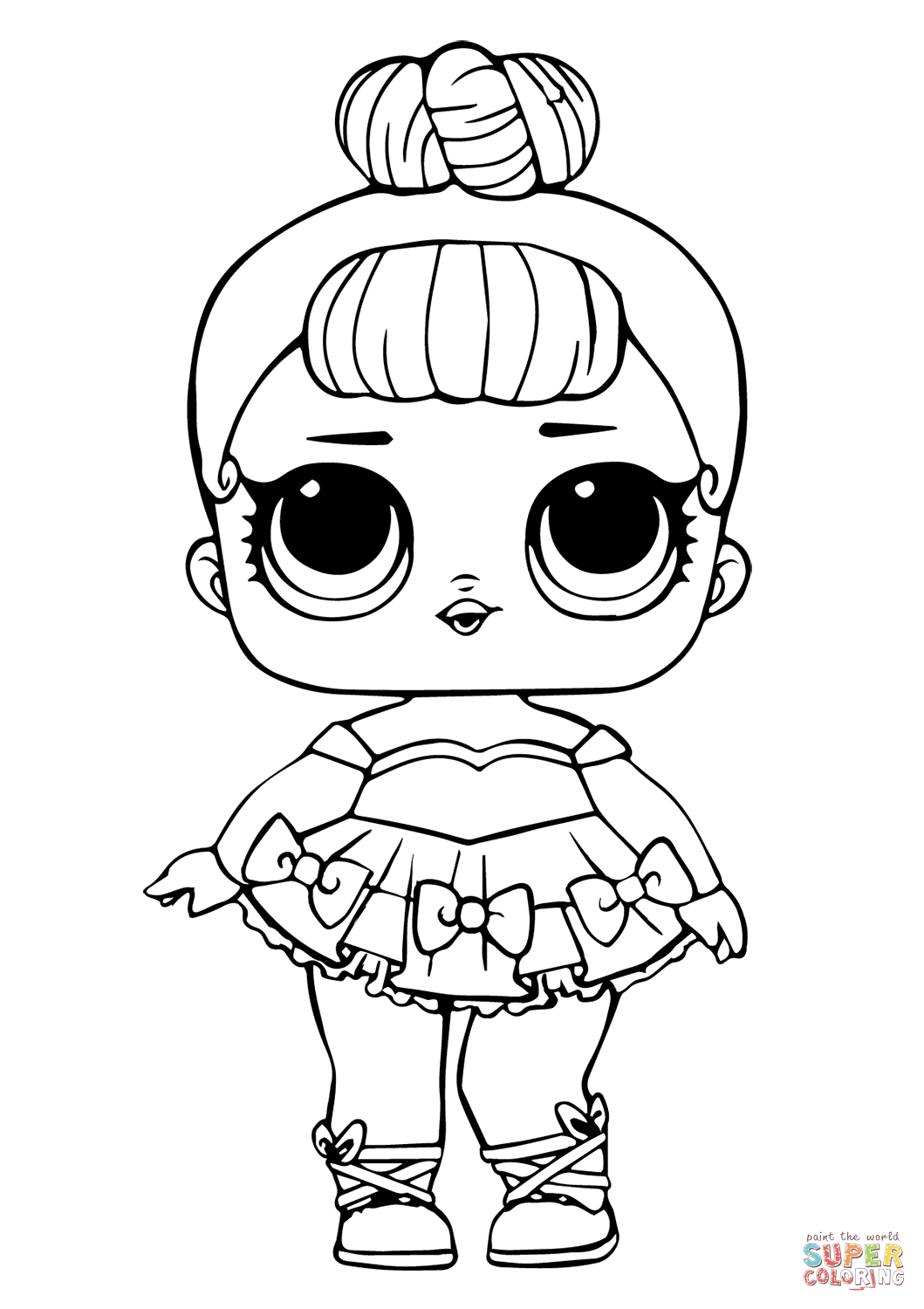 Lol Doll Miss Baby Glitter Coloring Page