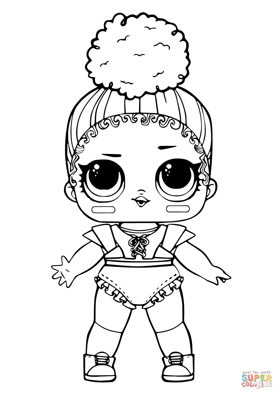 Lol Doll Touchdown Coloring Page