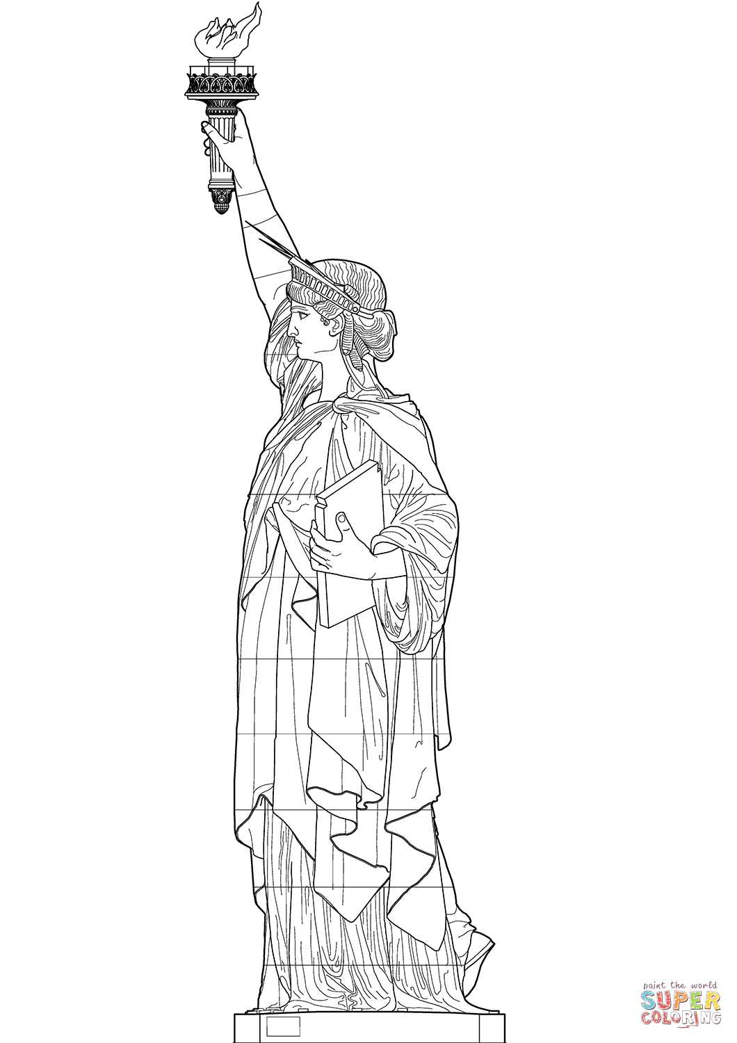 Statue Of Liberty Side View Coloring Page Free Printable Coloring Pages