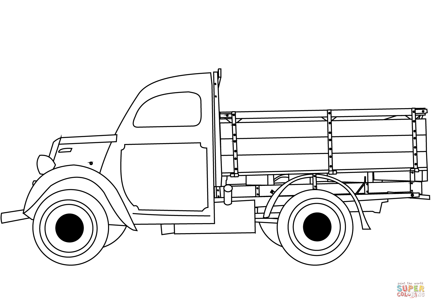 Classic Truck Coloring Page