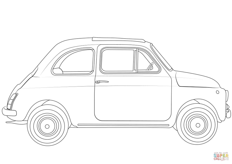 Kolorowanka Fiat 500