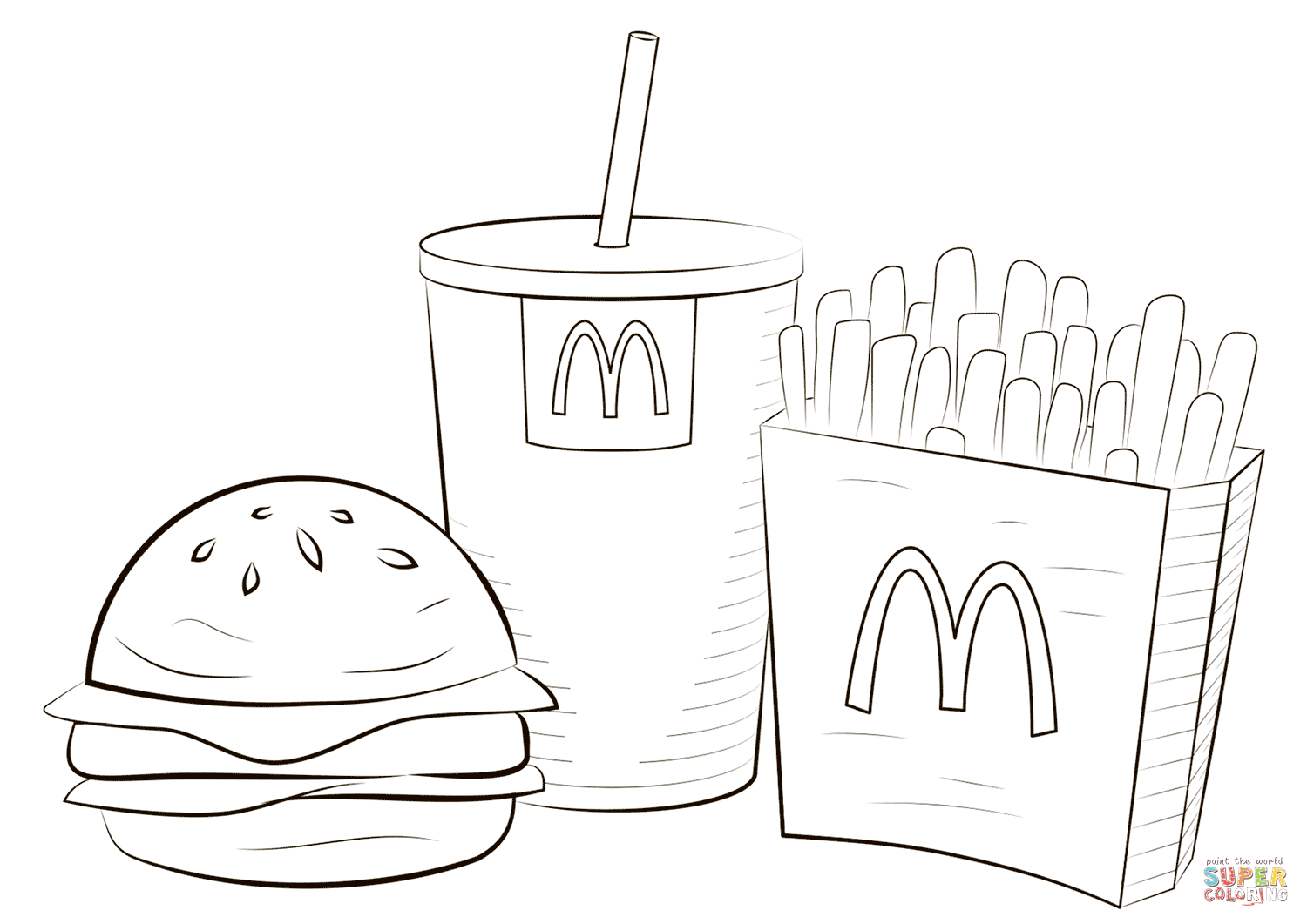 Mcdonalds Food Coloring Page